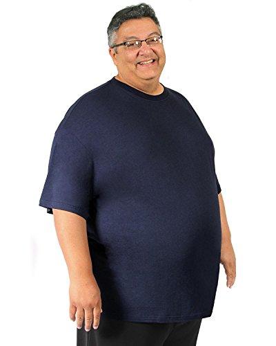 746ababe36b3 Big Boy Bamboo Men's Crew Neck Bamboo Short-Sleeve T-Shirt (5XL, Dark Blue)