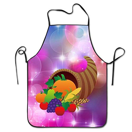 Unisex Fresh Fruits And Vegetables Party Durable Unisex Chef Apron -