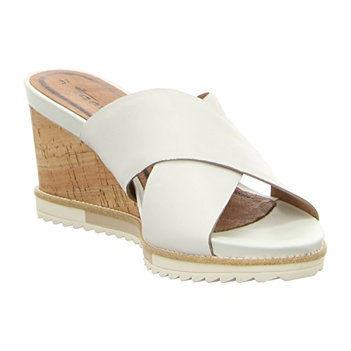Tamaris Womens Shoes 1-1-27201-28 Comfortable Women's Mules, Sandals, Summer Shoes For Fashion-Conscious Women, White