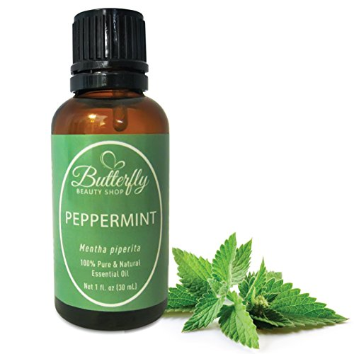 Peppermint Essential Oil (100% Pure Mentha Piperita). Common Uses: Colds, Congestion, Fever Reducer, Headache Relief, Joint Therapy, Mouthwash, Rodent Repellant. (30mL/1oz)