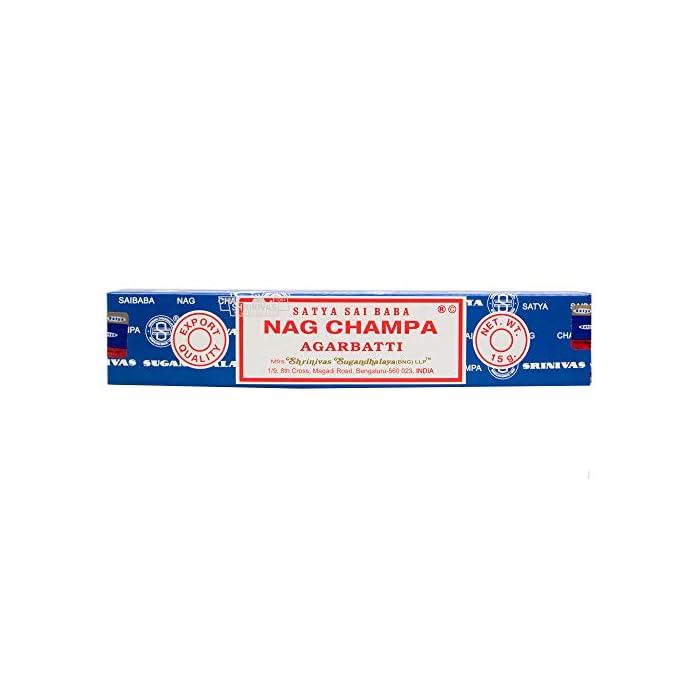 41Ek4BwL0yL Satya Nagchampa Incense Sticks(15gms x 12 Packs)