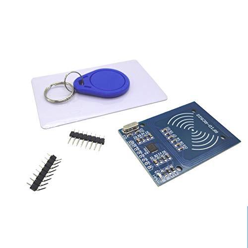 RFID Kit-MFRC-522 RFID Kit RF IC Card Sensor Module S50 Blank Card Key Ring Key Chain Compatible for Arduino Raspberry Pi Electronics