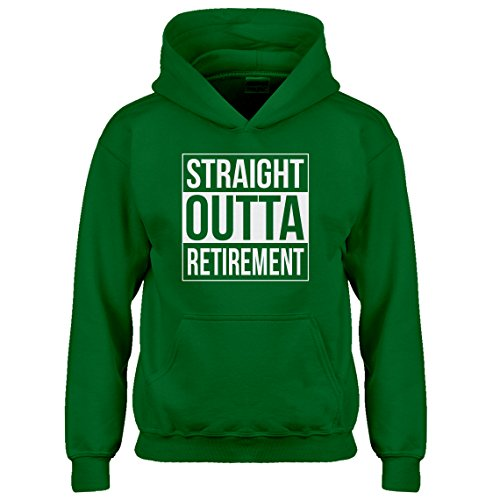 Indica Plateau Kids Hoodie Straight Outta Retirement X-Small Kelly Green Hoodie by Indica Plateau (Image #5)