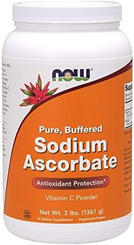 NOW Supplements, Sodium Ascorbate Powder, 3-Pound