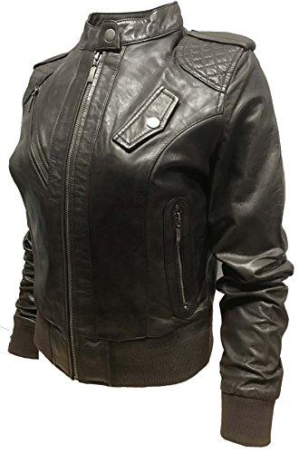 Gris Direct Femme Moderne Leather Blouson Foncé Ix10YaIqw