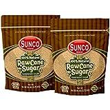 Sunco Natural Raw Sugar, Natural Raw Cane Sugar, Turbinado Sugar, Demerara Sugar 6 Lb Bulk (Pack of 2 (12 Lb))