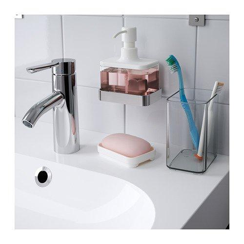 Ikea brogrund - Dispensador de jabón con soporte de acero inoxidable: Amazon.es: Hogar