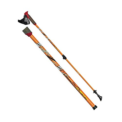 Comolife Nordic Walking Poles(pair) , Material : Full Carbon , Made in Japan , Color : Neon Orange by Comolife