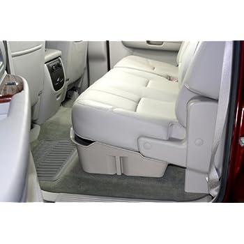 DU-HA Under Seat Storage Fits 07-13 Chevrolet/GMC Silverado/Sierra Light Duty & 07-14 Heavy Duty Crew Cab, Dk Gray, Part #10042