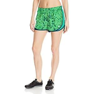 "New Balance Women's Accelerate 2.5"" Printed Shorts, Lime Glow, Medium"
