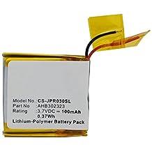 Jabra BT3030 Wireless Headset Battery (Li-Pol, 3.7V, 100mAh) - Replacement Battery for Jabra AHB302323 Wireless Headset battery