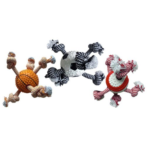 Multipet International Sport Ball/Rope Dog Toy