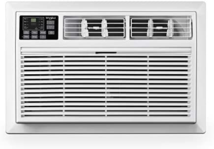 Whirlpool 8,000 115V Through-The-Wall Air Conditioner With 4,200 BTU Supplemental Heating, White