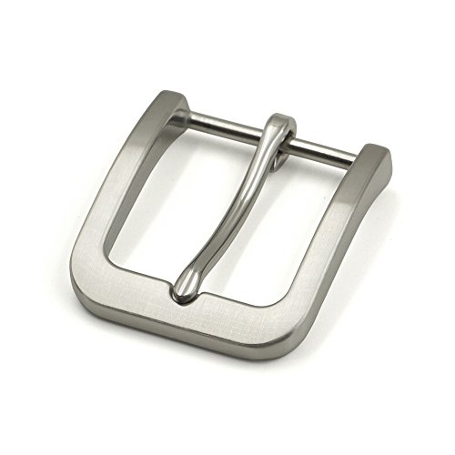 Stainless Steel Pin Buckle for Men Leather Belt Replacement Snap On 40mm ()