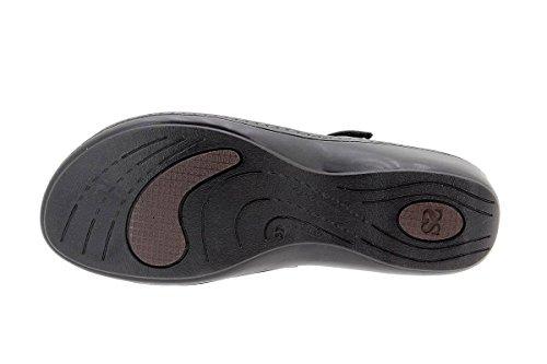 Natur Negro Sandales Amovible Confortables Chaussure à Amples Confort Femme Semelle 1801 en Cuir PieSanto 7H6wff