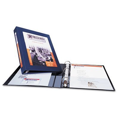 3 X AVERY 68054 Framed View Binder with One Touch EZD Rings, 1