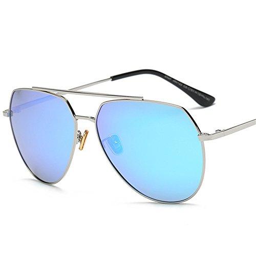 tamaño gafas C5 de sol cuadrados Unidos polarizadas la gafas de azul las sol gran Marco nuevos 2018 Europa de de y Hombre los hombres de de Estados plateado polarizadas Gafas Anteojos PpxOtgF