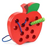 Yiding Wooden Lacing Apple Threading Early Learning Fine Motor Skills Educational Gift Toys