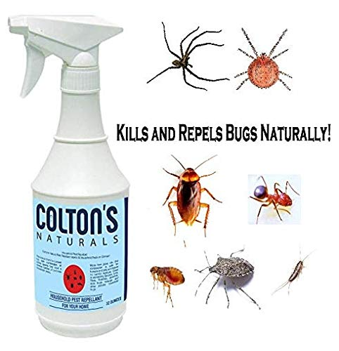 Home Pest Repellent Spray - Natural Pest Control - Useful Against House Roach, Spiders, Ants, Fleas - Fast Acting Pest Control Spray (32 Ounce)