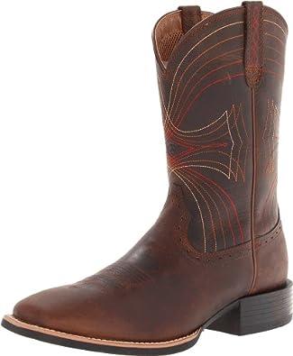 Amazon.com | Ariat Men's Sport Wide Square-Toe Western Cowboy Boot ...