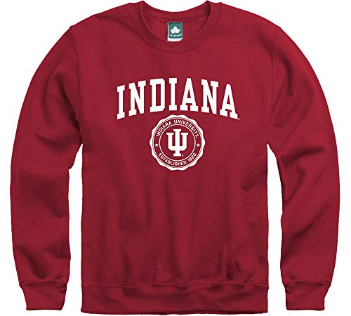 Ivysport Indiana University Hoosiers Crewneck Sweatshirt, Legacy, Cardinal, Small