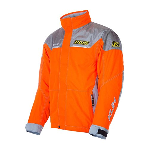 Klim Klimate Parka Men's Ski Snowmobile Jacket - Orange / Medium (Storm Parka Lined)
