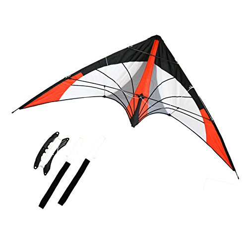 Wing Dual (Backyard Stunt Stunt kite, Dual Line, 68 inches Wingspan Great Outdoor Sport. Red Arrow)