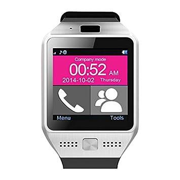 SAVFY La última Smartwatch/Reloj Inteligente Bluetooth 3.0/1.54 Flein Pantalla táctil/Pulsera de Silicona para Smartphone Andorid ...