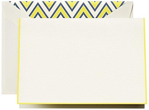 Crane & Co. Lemon Bordered Note (CF1424)