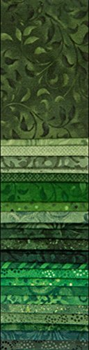 Wilmington Prints Essential Gems Emerald Forest 24pcs 2-1/2in x 44in Strips, 2-1/2
