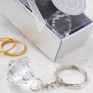Crystal Clear Collection Diamond Design Key Chain, - Collection Keychain Design Diamond