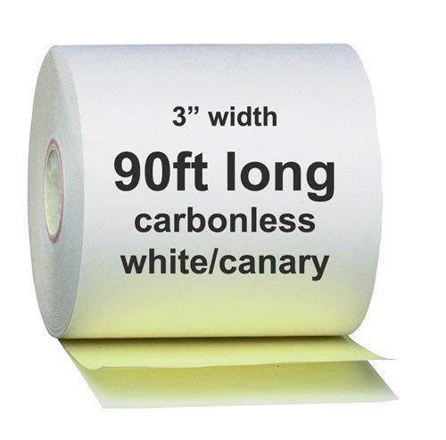 (AM-Ink Two Ply Carbonless POS Receipt Paper Rolls 3