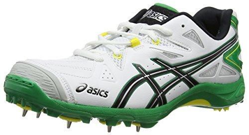 Asics Gel-Advance 6 Herren Cricketschuhe White (White/Black/Mcg 0189)