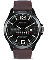 Mens Military Sport Analog Quartz Digital Display Watch with Genuine Leather Band Unique Big Face Number Retro Casual Fashion Dress Wrist Watches Classic Business Waterproof Calendar Date Week