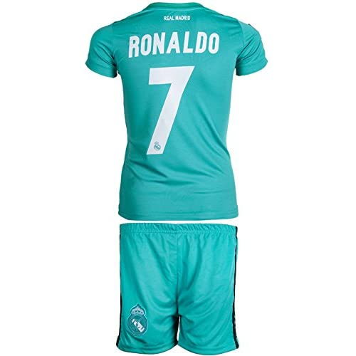 78d64c13b85 Real Madrid #7 Ronaldo 2017 / 2018 Away(3rd - green) - Kids Jersey ...