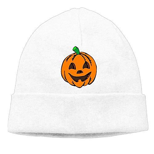 Men's&Women's Pumpkin Clipart Halloween Soft Knit Beanie Caps