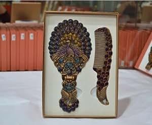 Espejos de pie decorativos antiguo ba o vintage de mano vanidad peine bronce cepillo peine - Espejos decorativos amazon ...
