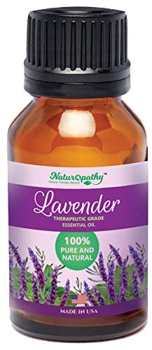 Naturopathy 100% Pure, Undiluted Lavender Essential Oil, Therapeutic Grade, 10ml (1/3 fl. Oz)- Perfect for Aromatherapy and Relaxation