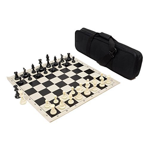 (Heavy Tournament Triple Weighted Chess Set Combo - Black)