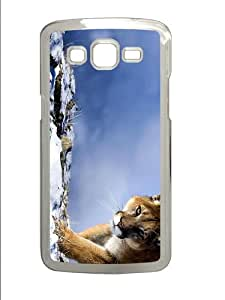 cover waterproof puma cougar winter PC Transparent case/cover for Samsung Galaxy Grand 2/7106