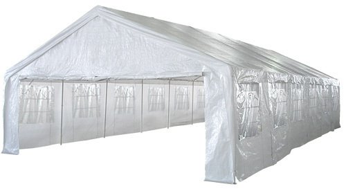 Tent Huge 20′ x 40′ – Party Shelter Canopy Pavillion Gazebo Outdoor Wedding Reception Family Reunion Carport Business Promotion White Color – 1 Year Limited Parts Warranty Review