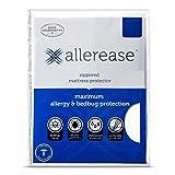 AllerEase Maximum Waterproof, Allergy and Bedbug Zippered Mattress Protector, Twin XL