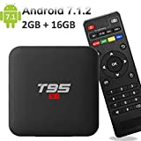 EASYTONE Android 7.1.2 TV Box,2018 Newest TV Boxes Android 7.1 with 2GB+ 16GB/ Quad Core CPU 64 Bits Supporting 4K (60Hz) Full HD/H.265 /3D Outputs Google TV Box T95