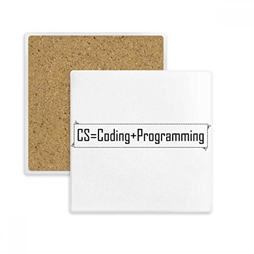 CS Contains Coding And Programming Square Coaster Cup Mug Holder Absorbent Stone for Drinks 2pcs - Programming Coasters
