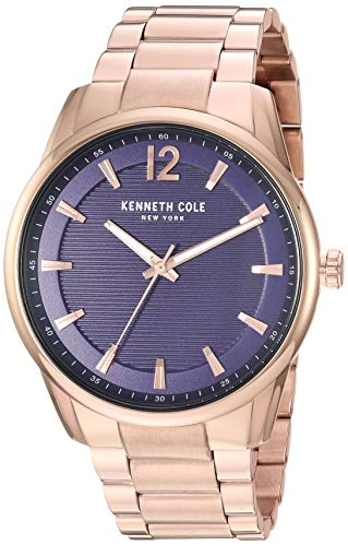 Kenneth Cole New York Men's Classic Japanese-Quartz Watch with Stainless-Steel Strap, Rose Gold, 20.2 (Model: KC50688005)