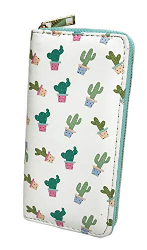 Cute Colorful Potted Cacti Women's Novelty Fashion Wallet