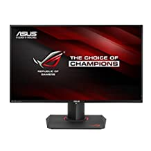 ASUS ROG SWIFT 27-inch G-SYNC 4K Gaming Monitor [PG27AQ] IPS, 4ms Response Time, USB 3.0, HDMI, Display Port, 3840 x 2160 Ultra HD Display with Pivot, Tilt, and Swivel, ASUS EyeCare