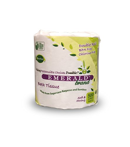 Emerald Brand Tree Free Bath Tissue 500 Sheets, White, 48 Count