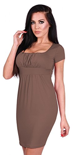 Zeta Ville - Damen Jersey Empire-Taille Kleid Elegantes Etuikleid S-4XL -  081z ... e20c6b79e1