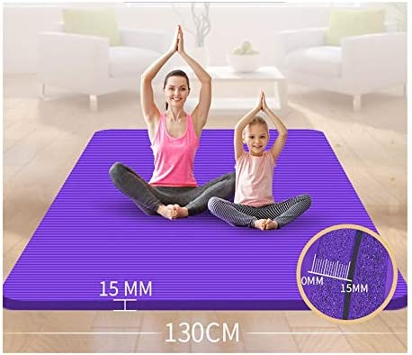 Yoga mat 特大ダブルヨガマット肥厚は長い200センチメートル* 130センチメートル* 15ミリメートルの女の子の子供のダンスの練習ノンスリップフィットネスマットホーム拡幅 workout